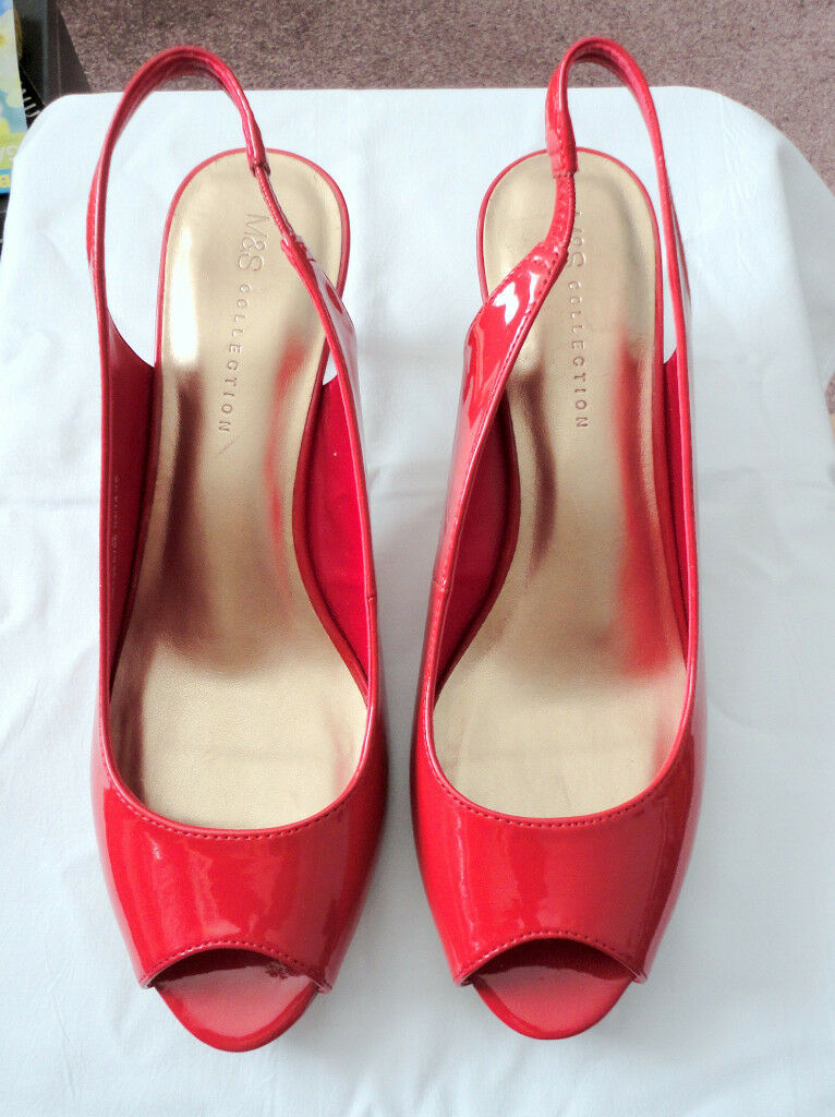 fd8afcb6232 Sling Back ladies shoes size 8, red M&S new   in Barnsley, South Yorkshire    Gumtree