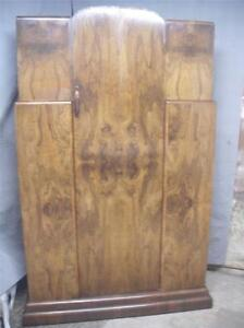 Art Deco burr burl walnut wardrobe good shape