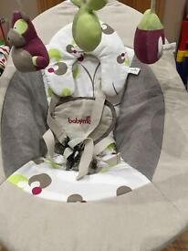 Babymoov Swoon Bubble Baby Swing (Brown / Hibiscus) with Sounds and Melodies