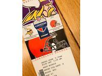 NFL Tickets - Vikings v Browns