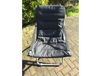 Black camping or fishing chair