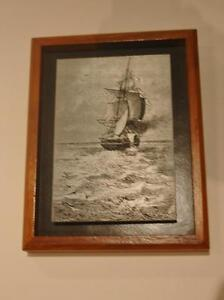 Original 19th cent. steel engraving printers plate by H. Meyer