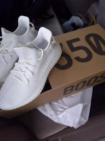Adidas Yeezy boost triple white trainers UK7