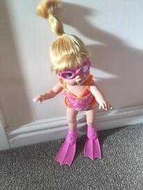 My little 'I can swim' baby born doll
