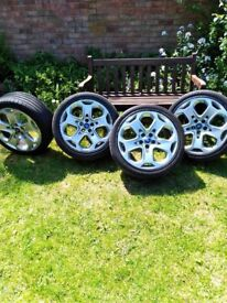 4x18 inch Alloy wheels and Tyres
