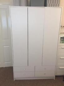 White Triple Wardrobes