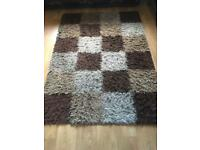 Chequered rug large