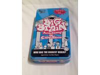 BIG BRAIN ACADEMY CARD GAME IN TIN. BASED ON THE NINTENDO DS GAME. COMPLETE.