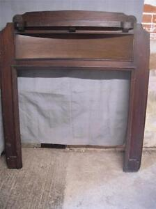 Good Art Deco mahogany fireplace fire surround for restoration
