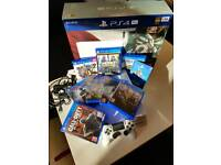 Slightly used PS4 PRO SPECIAL EDITION 1TB, WHITE