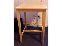 IKEA BJÖRKUDDEN Bar Table/Standing Desk & HENRIKSDAL Chair, Solid Birch