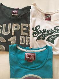 Superdry tshirts ladies x3