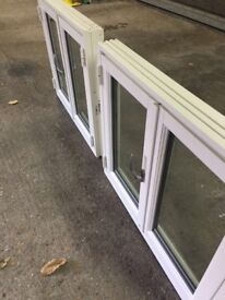 Pair of new doubled glazed danish timber windows. Extension/ outbuilding window replacement