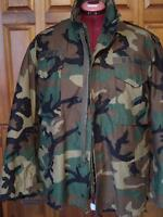 "US ARMY CAMOFLAUGE WINTER COAT WITH ""COLD WEATHER"" LINING"