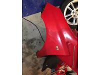 Corsa D 07 plate O/S wing in red