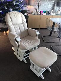 Tutti Bambini gliding rocking feeding chair and foot stool