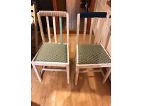 Set of four Vintage Shabby Chic kitchen chairs