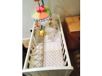 Mothercare Swinging Crib (Cot) - White