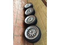 """19"""" BBS LM's with brand new tyres 235/35/19 BMW AUDI VW GOLF"""