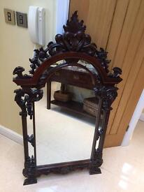 Carved Gothic Revival Mirror