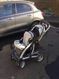 Trenton mothercare pushchair, car seat & carry cot