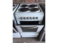 White electric cooker 50cm wide (delivery available)