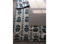Designer Luxury Fabric Remnant - Raised Velvet Ikat BATTERSEA COLLECTION