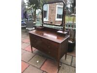 Edwardian dresser with bevelled glass mirror ( can deliver )