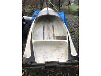 Small speed boat hull fibreglass for sale we have a that's starts for it 15 horsepower