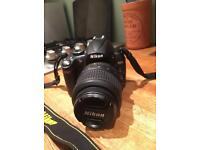 Nikon d5000 camera, 18 - 55 mm lens and bag
