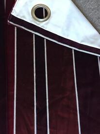 Next eyelet curtains - fully lined. 135cm x 183cm each curtain.