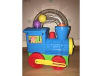 Funtime ball blowing push along train children's toy