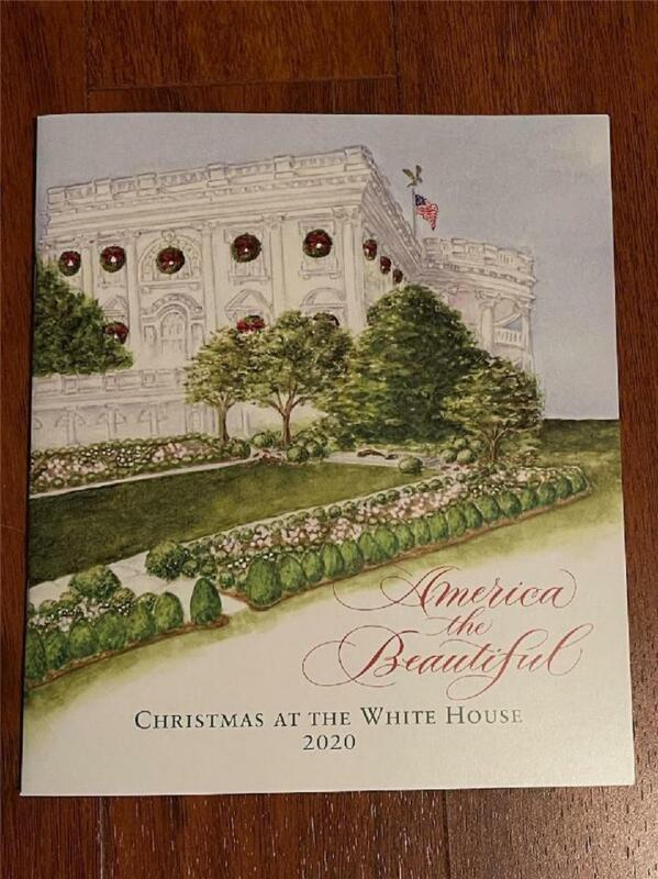 2020 White House Christmas Holidays Tour Book Program Donald Melania Trump POTUS