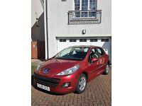 Peugeot 207 1.4 5 dr Hatch, 68000mls, new MOT, Red Millisim 200 Ltd Edition full Main Dealer History