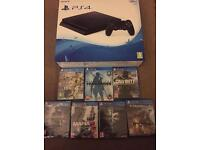 Ps4 Slim new 7 games warranty delivery