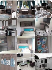 Caravan Hire Rent Blackpool Fleetwood Summer school Holidays 3 bed Prestige