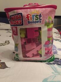 Girls mega blocks first builders bag
