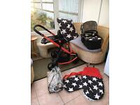 Cosatto Giggle in All Stars with cot & seat etc