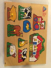 Child's wooden jigsaw puzzles x 4