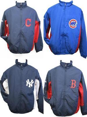 Yankees Cubs Red Sox Indians Mens S-M-L-XL-2XL-3XL Majestic Dugout Jacket Coat
