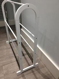 Towel Rail - white wood