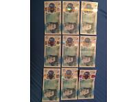 9x £5 Notes - Great Condition - AA to AK