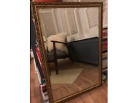 Gold Ornate Bevelled Mirror Great Condition