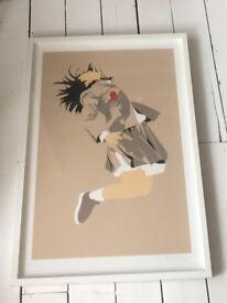 Framed original print artwork