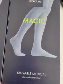 SIGVARIS thigh Closed toe Beige, 22 - 24 mmH, size S Normal, BNIB, RPP £70