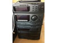 JVC Hi-Fi System With CD/Cassette/FM Radio And 2 Shelf Speakers