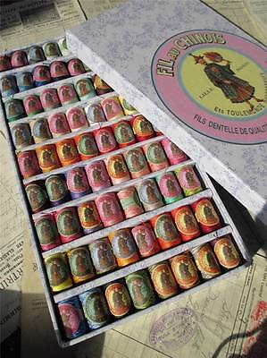 Sajou Gift Box of 72 'Fil au Chinoise' Cotton Lace Threads- Complete Collection