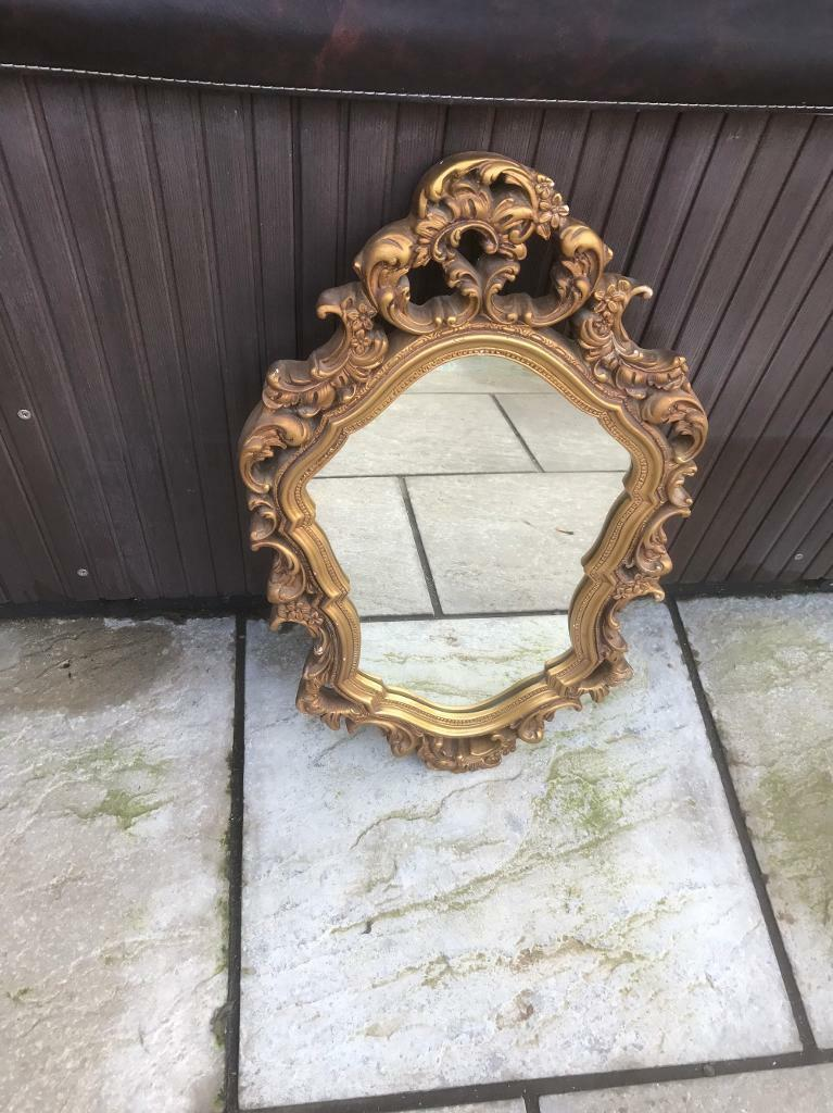 Gilt framed mirror ( can deliver )