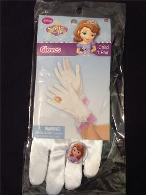 Disney SOFIA THE FIRST GLOVES w Ring - child pair play cosplay costume accessory - Kids Couple Costume