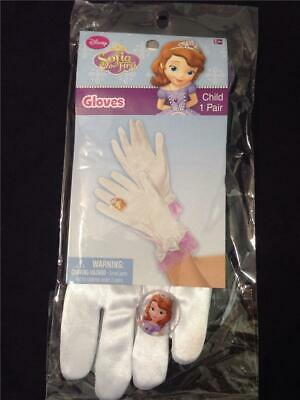 sofia the first gloves w ring child
